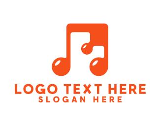 Perform - Generic Orange Musical Note logo design
