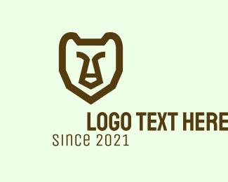 Native America - Minimalist Wild Grizzly logo design