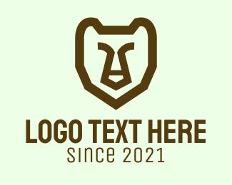 Grizzly - Minimalist Wild Grizzly logo design