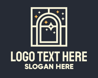 Mysterious - Starry Window logo design
