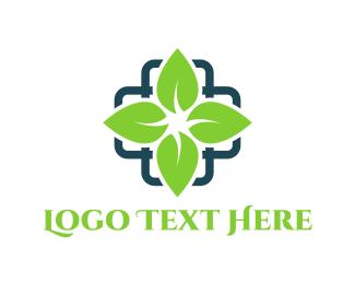 Drugstore - Leaf Cross logo design