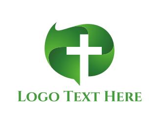 Church - Green Cross logo design