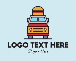 Mobile Restaurant - Burger Food Truck logo design