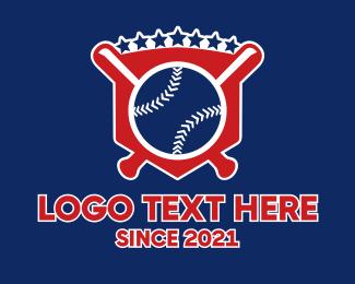 """Baseball Sport Shield"" by LogoBrainstorm"