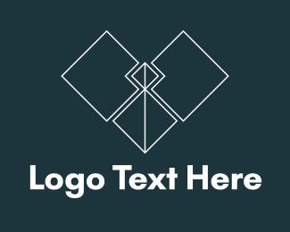 Web Design - Square Heart logo design