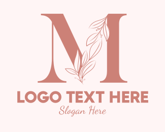 Aesthetics - Elegant Leaves Letter M logo design