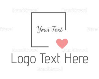 Bride - Minimalist Pink Heart logo design