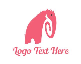 Elephant - Pink Elephant logo design