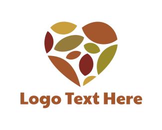 Fall - Autumn Heart logo design