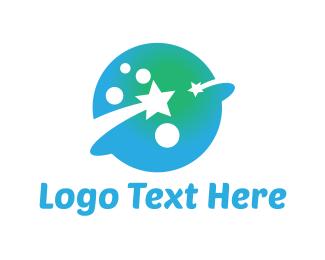 Spacecraft - Blue Planet logo design