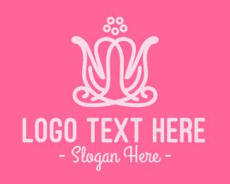 Wellness Center - Pink Flower Shop logo design
