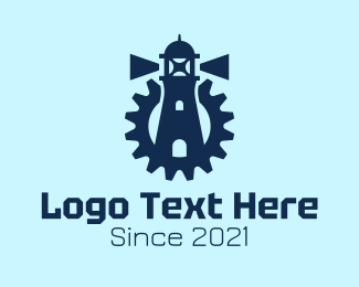 Machinist - Blue Lighthouse Gear  logo design