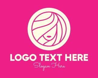 Shampoo - Pink Beautiful Aesthetic Woman logo design
