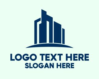 Upscale - Upmarket Skyrise Building logo design