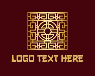 Oriental Culture - Chinese Decorative Tile logo design