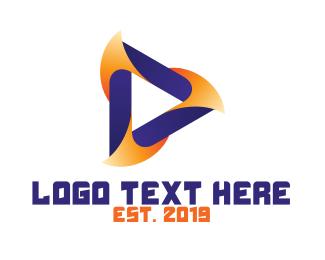 Youtube - Orange Violet Media logo design