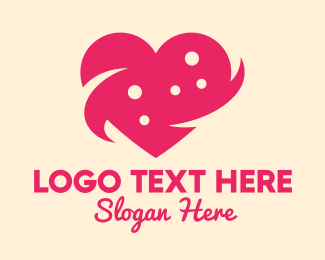 Relationship - Pink Heart Dots logo design
