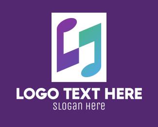Tune - Gradient Musical Notes logo design