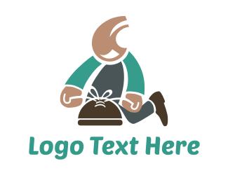 Cartoon - Shoe Repair logo design