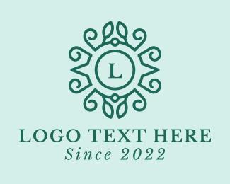 Mediterranean - Green Wreath Lettermark logo design