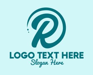 Brand - Green Letter R logo design