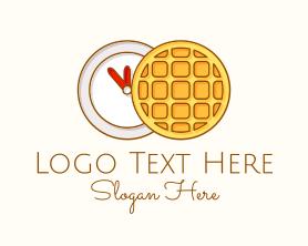 Restaurant - Waffle Time Illustration logo design