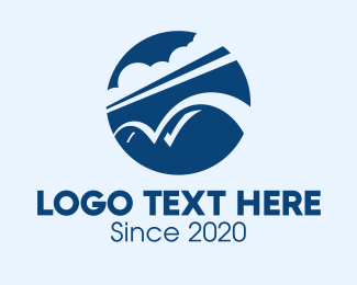 Highway - Blue Sky Bridge logo design