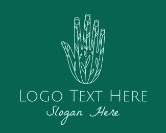 Garden - Gardener Plant Hand logo design