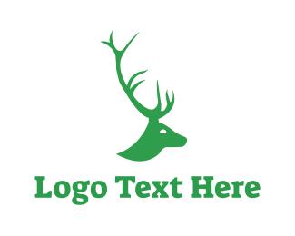 Doe - Stag Horn logo design