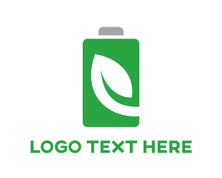 Charge - Battery Green Logo logo design