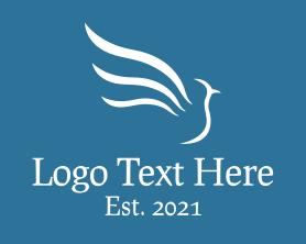 White Modern Bird Logo