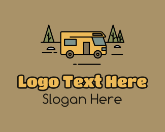 Explore - Outdoor Camping RV  logo design