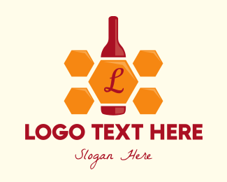 Gin - Honey Bottle Lettermark logo design