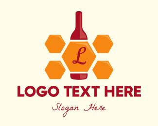 Beehive - Honey Bottle logo design