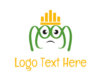 Green Crown - Frog King logo design
