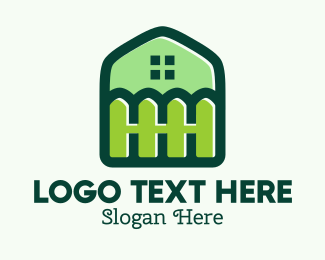Backyard - Green Home Backyard Fence logo design