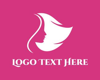 Pink Feminine Head Logo
