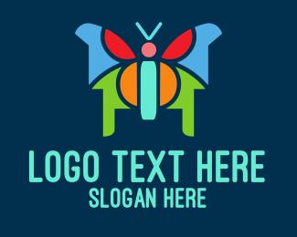 Butterfly Mosaic Logo