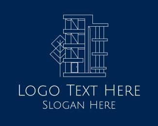 Apartment - Geometric Apartment Building logo design