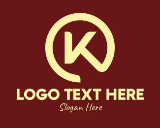 Caterer - Chef Emblem Letter K logo design