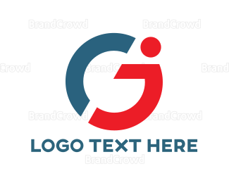 Disability - Blue Red G  logo design