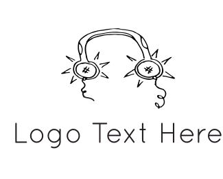 Disc Jockey - Music Production logo design
