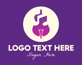 Cello - Purple Gradient Violin logo design