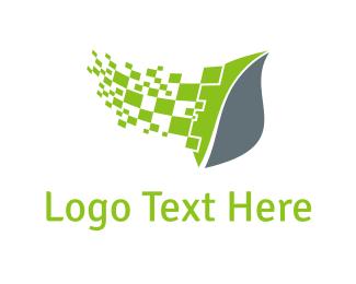 Computing - Digital Leaf logo design