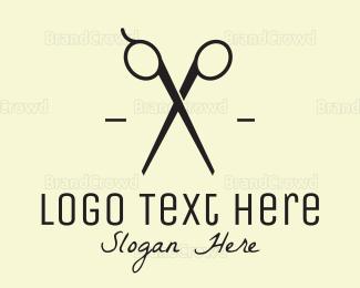 Salon - Black Scissors logo design