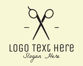 Black Hairdresser Scissors logo design