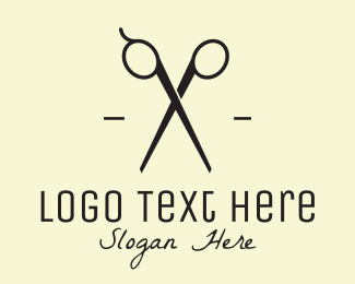 Fashion Designer - Black Scissors logo design