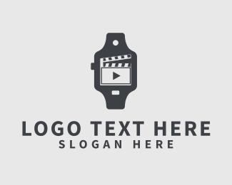 Clock - Movie Watch logo design
