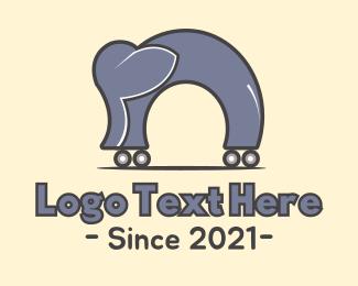 Circus - Elephant & Wheels logo design