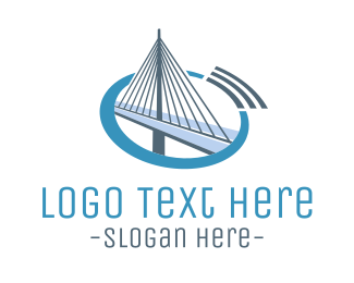 Mumbai - Blue Cable Bridge logo design